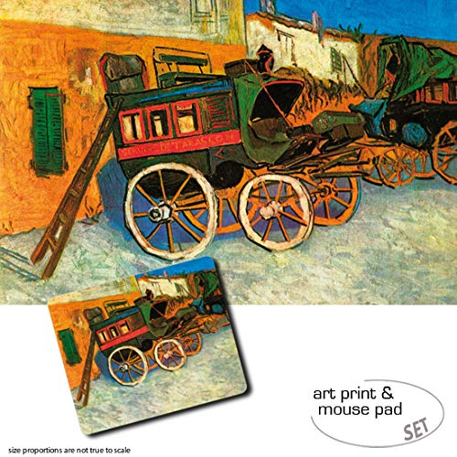 Legno 80x60 cm ArtPlaza Van Gogh Vincent Farmhouse in Provence Pannello Decorativo Multicolore