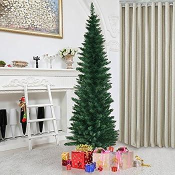 550 TrendMakers 6ftGreen Pencil Slim ChristmasTree Metal Stand