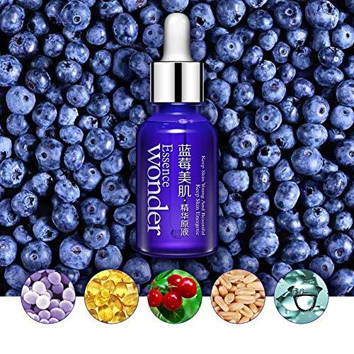 Blueberry Hydrating Essence für Gesicht 15g - Blueberry Face Serum - Anti-Aging Essenz Primer für Gesicht Make-up Base von Rowentauk