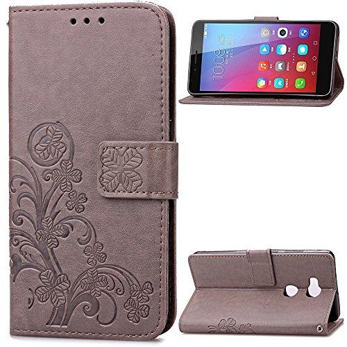 JIALUN-Holster pour Huawei Huawei Honor 5X Case, étui portefeuille 2 en 1 PU cuir TPU arrière couverture intérieure avec fentes pour cartes et dragonne pour Huawei Honor 5X Personnalité et mode