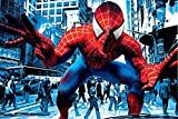 Spider Traffic Musical Piétons Spider Man Super-héros Turn Off The Dark TV Film Poster Tissu Silk Poster Print 89834 24x36 Multicolore