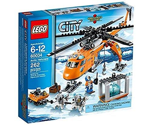 LEGO City 60034 - Arktis-Helikopter mit Hundeschlitten - Eis-piloten