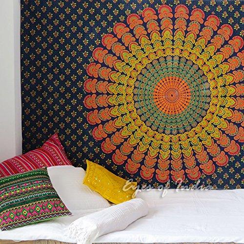 Eyes of India Individual Arte de Tapiz de Mandala de Elefantes Colgante...