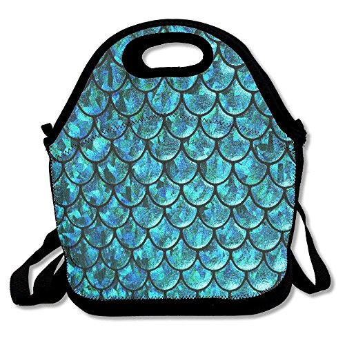 Mermaid Tails Abstract Lunch Bag Tote Handbag Lunchbox For School Work Outdoor