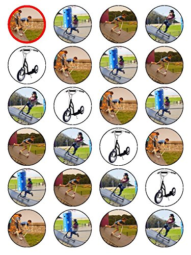 x24-15-inch-kick-scooter-birthday-cup-cake-toppers-decorations-on-edible-rice-paper