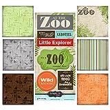 Scrapbook Customs 17570Mottoparty Paper & Aufkleber Scrapbook Kit, Zoo