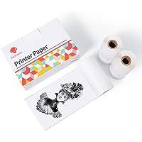 Phomemo Lot de 3 rouleaux de papier autocollant pour imprimante Phomemo M02 M02S M02 Pro Blanc 2 ans