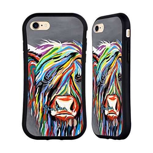 Ufficiale Steven Brown Huey Mccoo Mucca Delle Montagne 1 Case Ibrida per Apple iPhone 6 / 6s Rab Mccoo