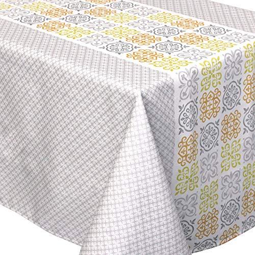 Nappe carrée 170x170 cm imprimée 100% polyester CARO géométrique gris