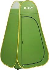 INTEY Duschzelt Pop up Umkleidezelt als Abstell und Toilette für unterwegs, Auch als Stauraum Beim Camping, Grün