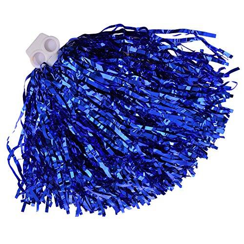 twinkbling Cheerleading Pom Poms Dance Party Kostüm Sport Cheerleader Flower Ball mit Kunststoff Griff, blau (Poms Wettbewerb Kostüme)