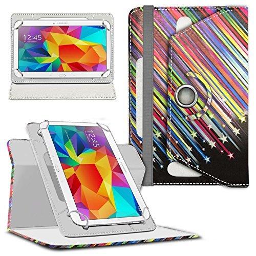 Preisvergleich Produktbild N4U Online - Various Design Rotierend PU Leder Stand Hülle Cover Für Asus MeMO Pad HD 7 (ME176) Tablette - Sternschnuppe