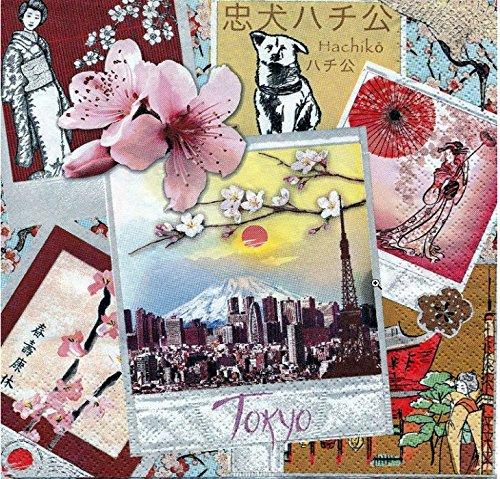 20 Servietten Tokyo / Städte / Japan / Asien / asiatisch 33x33cm