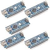 Alphabeeboo Nano V3.0 ATmega328P CH340G 5V 16M Mikrocontroller Modul Mini USB für Arduino (Pack von 5)