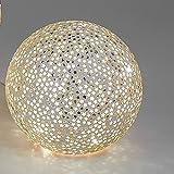 Formano Kugelleuchte aus Glas Sterne mit Beleuchtung Dekoration für die Wohnung in Schwarz Oder Silber (15 cm, Silber)