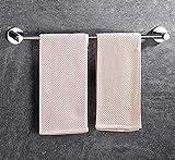Portasciugamani in acciaio inox,unipolare/senza punterie/senza trapano/3M adesivo/porta asciugamano bagno/hotel/cucina/balcone/asciugamano semplice