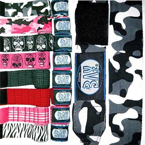 BAY® Camouflage Boxbandagen SCHWARZ