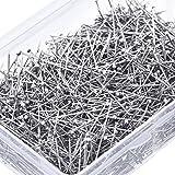 1600 Stück Kopfstifte Feine Satin Pin Schneider Stifte für Schmuck Making, Nähen und Handwerk, Edelstahl, 1 1/ 16 Zoll
