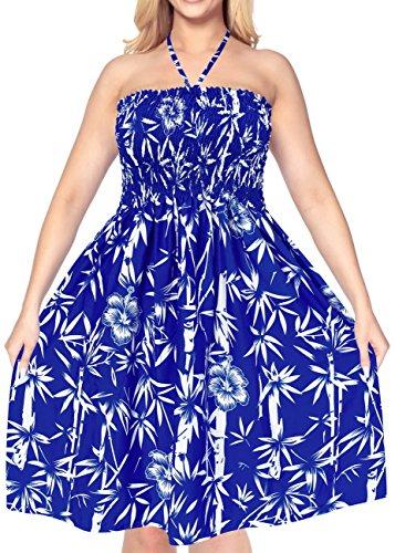 midi verschleiern Badeanzug maxi aloha Frauen sundress Rockschlauchoberseiten Bademode Kleid Halfter Blau