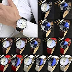 Watches Men Luxury Brand Wrist Watch Fashion Relogio Masculino PU Leather Men High Quality Quartz Watch Analog Relojes