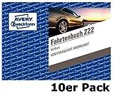 Avery Zweckform 222 Cuaderno de bitácora para coche (A6 transversal, 40 hojas) blanco - 10 Stück