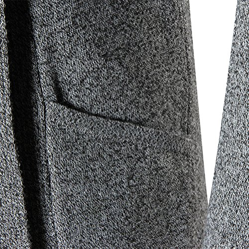 Zhuhaitf Herren Winterkleidung Men's Teenagers Long Shawl Collar Warm Soft Solid Open Edge Cardigan Jacket Coat Tops Dark Gray