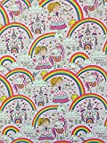 Rachel Ellen Girl Magical Birthday Princess Einhorn Rainbow Fairy Castle Geschenkpapier Blatt x 4