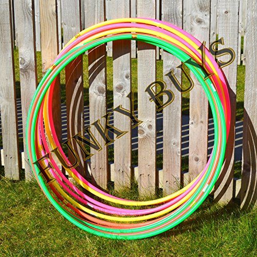 funkybuys-4pk-quality-adults-kids-solid-multicolor-small-large-hula-hoops-dia55cm-21-inches-sporting