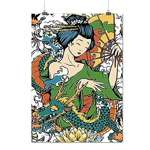 Geisha Fille Diva Japon Matte/Glacé Affiche A3 (42cm x 30cm)   Wellcoda