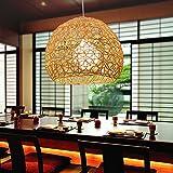Kreative Gras Rattan Pendelleuchte E27 Lampenschirm Restaurant Balkon Schlafzimmer Gang Beleuchtung (Birne Nicht Enthalten)