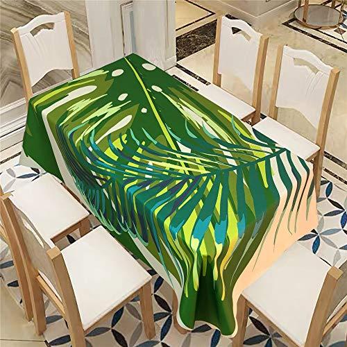 QWEASDZX Polyester Tischdecke Ölbeständige und wasserbeständige Multifunktionstischdecke Geeignet für Tischdecken im Innen- und Außenbereich Rechteckiger Tisch 140x240cm