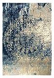 Vintageteppich Barock, edler Designerteppich modern & voll im Trend in hoher Qualität, sehr robust, Größe:120x170cm