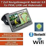 17,8cm 7 Zoll,Android 6.0 Navigationsgerät,Navigation,WIFI,Neuste EU Karten,Radarwarner,Tablet PC,Wohnmobil,LKW,PKW,24GB Speicher,HD,AV-IN,Bluetooth,Kostenlose Kartenupdate,GPS