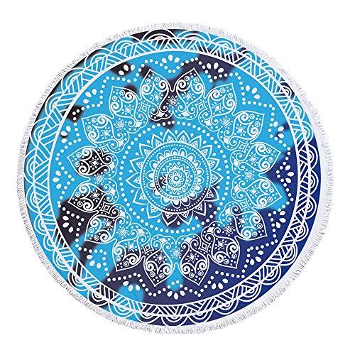 LYJZH Rundes Strandtuch- Europa und die Vereinigten Staaten Wickeln geometrischen Druck mit gesäumten Mikrofaser Badetuch Yogamatte Tapisserie Picknickmatte -02 150 * 150cm