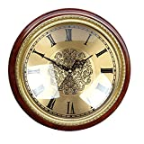 Die Uhr Stadt Häuser Liefern die Wand Tisch aus Massivem Messing Antik Wanduhr Wohnzimmer Mute Kreative QUARZUHR, Minimalistisch, Modern, Reines Kupfer Nussbaum Römischen Tastatur 40 cm