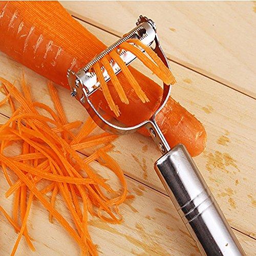 CN-Culture 2 en 1 cortador de patatas vegetales, rallador pelador triturador para pepino, zanahoria...