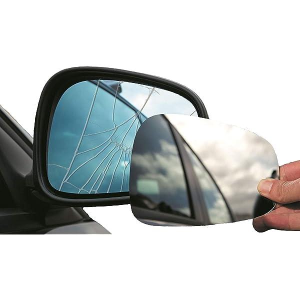 Left passenger side convex wing mirror glass Fiat Grande Punto 2005-2012 71LS