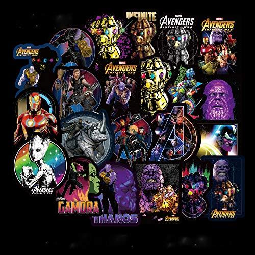 Marvel DC Avengers Super Hero 50pcs Aufkleber Superman Hulk Spiderman Captain America Deadpool Capitan Marvel 2019 Edition Vinyls für Laptop, Kinder, Jugendliche, Autos, Motorrad, Fahrradaufkleber 100 - Captain America-fahrrad