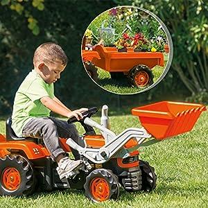Dolu Farmer Tractor Trailer y Cargador de Juguete