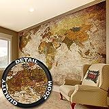 GREAT ART Wandbild Dekoration Weltkarte