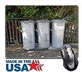 MSD alfombrilla de ratón Caucho Natural Pad/con esquinas con costura 9,8x 7,9tres Old Vintage acero latas de basura papelera imagen ID 27016586