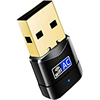 EasyULT WLAN Stick, Mini WLAN Adapter, USB 3.0 WiFi Dongle Dualband 2.4/5 GHz Wireless Netzwerk Adapter Antenne WiFi…