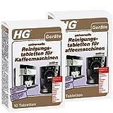 HG universelle Reinigungstabletten für Kaffeemaschinen, 2er pack (2x 10 st.) – entfernt Beläge und pflegt Kaffeevollautomaten