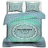 Funda de edredón india Mandala, tamaño queen, funda de edredón, colcha de cama, funda de edredón, funda de edredón Ombre Mandala, funda de edredón de tamaño king 82 X 84 inch