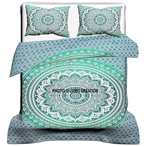 Funda de edredón india Mandala, tamaño queen, funda de edredón, colcha de cama, funda de edredón...