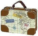 Moses. Fernweh Mini-Reisekoffer | Reise Aufbewahrung | Für Geldgeschenke, Metall, Mehrfarbig, 10.5 x 7.3 x 3.8 cm
