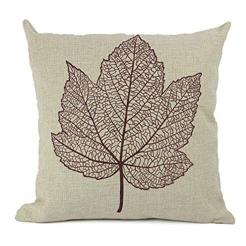 Jastore® Baumwolle Leinen Leaf Sofa Stuhl Kissenbezüge dekorativer Überwurf-Kissenbezug, Kissenbezüge 18-by-18-inches