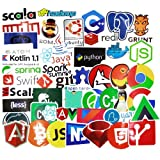 #5: GADGETS WRAP Laptop Stickers for Developer (50PCS)- Programming stickers of front-end dev ,back-end languages stickers for Software Developers, Engineers, Hackers, Programmers, Geeks, and Coders (50PCS)