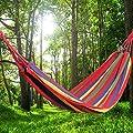 DealMux Camping Bunte Leinwand Hängematte Schlafen Bett 190cm x 84cm von DealMux bei Gartenmöbel von Du und Dein Garten