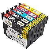 Win-Tinten Kompatibel Tintenpatronen Epson 16XL für Epson Workforce WF-2760DWF WF-2010W WF-2510WF WF-2520NF WF-2530WF WF-2630WF WF-2650DWF WF-2660DWF WF-2750DWF Drucker (2 Schwarz+1 Cyan+ 1 Magenta+ 1 Gelb-)